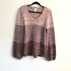 OSO Casuals Ombre Knit Pullover Sweater